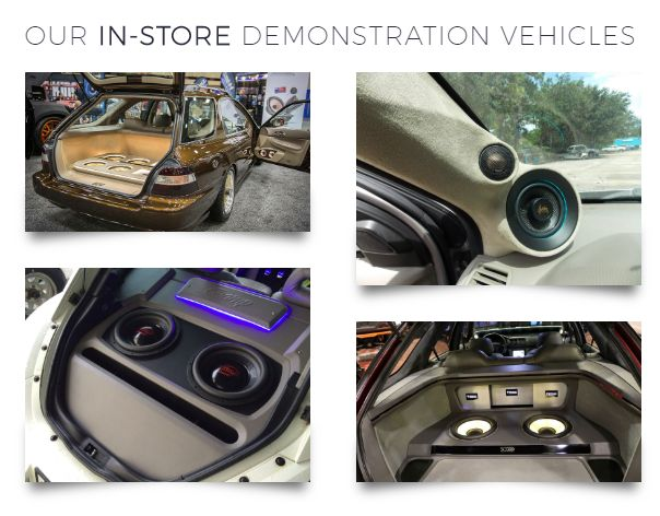 our in-store car stereo demostration vehicles